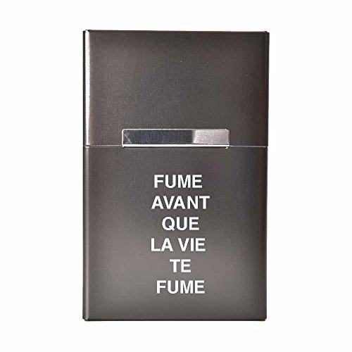 """Etui à cigarettes """"Fume avant que la vie te Fume"""" / bleu / noir / argent / or / personnalisable"""