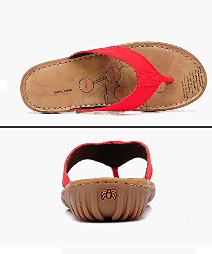 CHAOXIANG Mules Femme Antidérapant Tongs femme Sandales de surf Nouveau Summer pantoufles de plage ( Couleur : D , taille : EU37.5/UK4.5/CN38 ) A