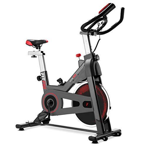 Fitfiu Bicicleta Indoor BESP-70 de 13Kg Volante de inercia, Adultos Unisex, Gris