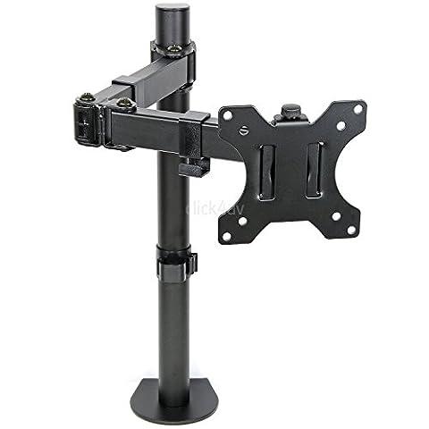 click4av Monitor TV Desk Mount Arm Clamp Stand 100mm VESA Tilt Swivel Bracket LDT12C012N