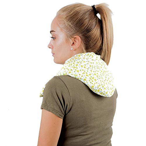 Saco Térmico Semillas MaxiCervical - Almohada Cuello para Calentar en Microondas 60x12-22 cm - Cojín...