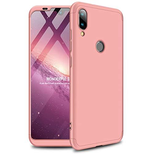 Funda Xiaomi Mi A2/Xiaomi 6X 360°Caja Caso + Vidrio Templado Laixin 3 in 1 Carcasa Todo Incluido Anti-Scratch Protectora de teléfono Case Cover para Xiaomi Mi A2/Xiaomi 6X (Oro Rosa)