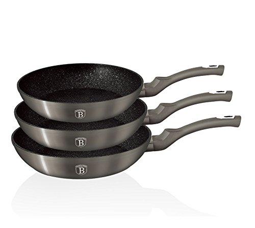 Berlinger Haus Set Pfanne 3UDS. Carbon Metallic Touch Line Genius 5.5 Carbon