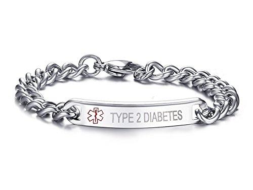 LIANDUO  -  No-metal-type  (Typ 2 DIABETES) Edelstahl       Diabetes-band