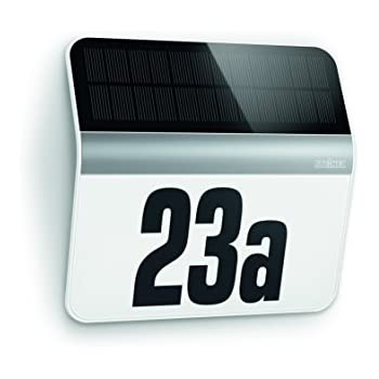 Steinel XSolar LH N   Illuminated LED House Number Sign, Stainless Steel,  Solar