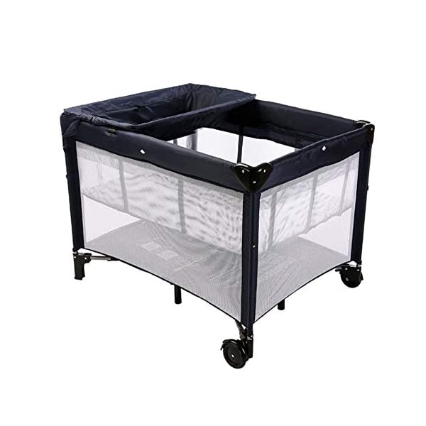Mr.LQ Multi-Functional Crib, Foldable Crib, Safe And Environmentally Friendly, With Roller,Gray  ★[Crib material]: The crib does not contain paint, does not contain formaldehyde, has no harmful substances to the baby, and gives the baby a comfortable sleeping environment; the overall quality of the high-quality TD fabric is soft and comfortable;the corner is made of environmentally-friendly plastic material. ★It is non-toxic and will not harm your baby. The bracket is made of high-quality alloy material, which is durable and light. ★[Folding Crib] The folding crib is designed to be carried around, carry it around, carry it with you, and fold or unfold it in a matter of time. 1