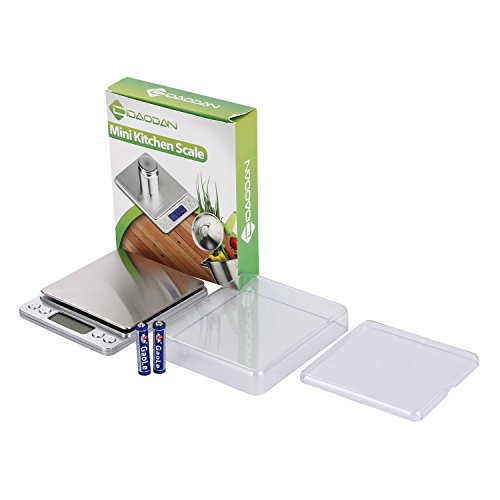 Digitale Küchenwaage IDAODAN 3000*0.1g Lebensmittel Grammschuppen Electronische Professionelle Waage Feinwaage mit Beleuchteter LCD-Anzeige Silber - 7