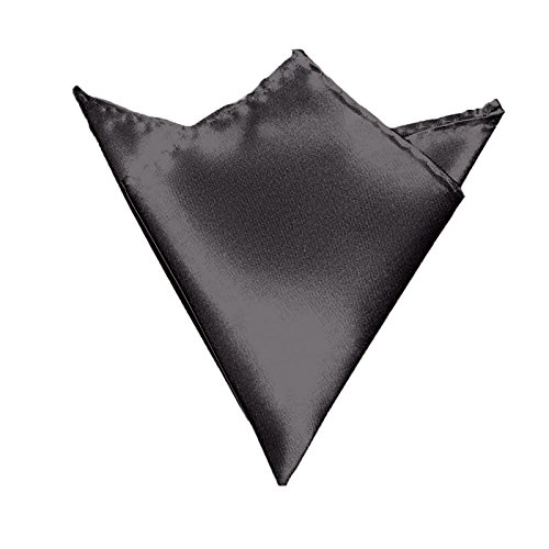 GASSANI Herren-Einstecktuch Dunkel-Grau | Satin Seide-Optik | Taschentuch Stecktuch zum Anzug Sakko Smoking -