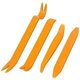 Zhuhaimei,Strumento d'ondeggiamento 4pcs del Pannello della Porta di fracassare Audio dell'automobile(Color:Mango Arancione)