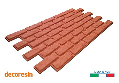 Panel de poliestireno ladrillo rojo resina 110cm x 56cm