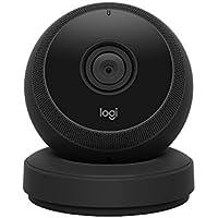 Logitech Circle Noir Camera HD 1080p Portable Wi-FI de Surveillance (Fonction Talkie-Walkie, Vision Nocturne et Babyphone)