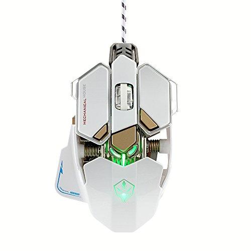 KKmoon LUOM G10Macros ratón profesionales ratón emisor de luz USB Gaming gameroptique a 9botones con y de cuatro colores regulables...