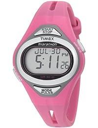 Timex T5J441 - Reloj digital de cuarzo para mujer, correa de plástico color rosa (alarma, luz, registro de vueltas, cronómetro)