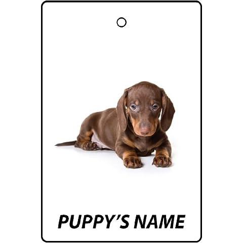 Regalo de Navidad - Ambientador De Coche Personalizado DACHSHUND PUPPY