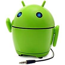 GOgroove PalBot - Altavoz Portátil Muñeco Android Recargable - Compatible con Apple iPhone 6 , Plus , 5s / Sansung Galaxy S6 , S5 / Motorola Nuevo Moto G / Google Nexus 5 / BQ Aquaris E5