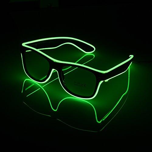 rsten LED Kaltlicht LED Gläser EL Draht Fashion Neon für Dancing Party Bar Meeting Glow Rave Kostüm Party Atmosphäre activing DJ Bright Gläser Requisiten grün (El-draht-gläser)