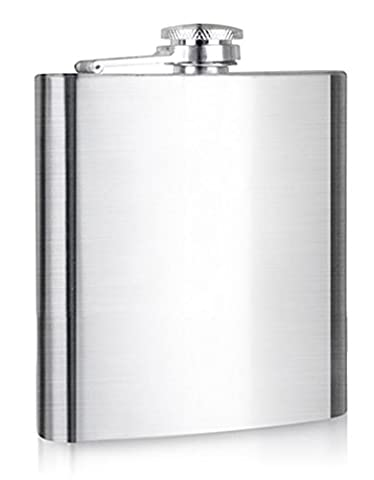 CHIC*MALL Portable Stainless Steel Hip Liquor Whiskey Alcohol Pocket Flask 8oz - Best Gift