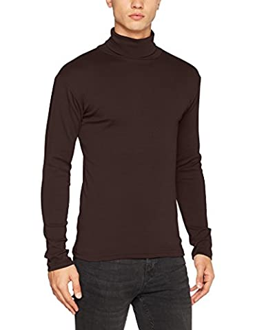 Lower East Le209, T-Shirt à Manches Longues Homme, Marron (Braun Braun), Medium