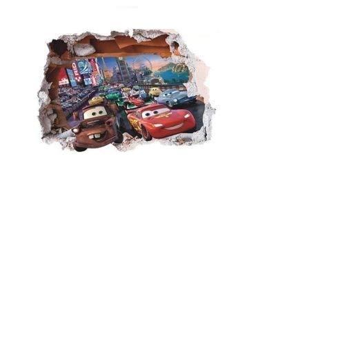 Kinder Kinder Wandsticker Wanddekoration Cars Disney Pixar Lightning Mcqueen–Größe 50cm x 70cm