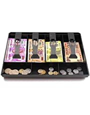 HASTHIP® Cash Register Box New Classify Store Cashier Coin Drawer Box 32.5 * 24.5 * 3.5cm Cash Drawer Tray