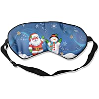 Eye Mask Eyeshade Snowman Father Christmas Sleeping Mask Blindfold Eyepatch Adjustable Head Strap preisvergleich bei billige-tabletten.eu