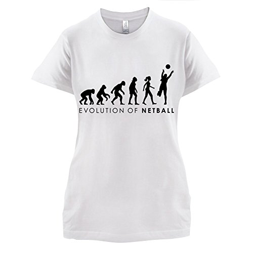 Evolution of Woman - Netzball - Damen T-Shirt - 14 Farben Weiß