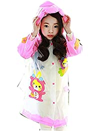 V4U Kids Girls Cartoon Printed Raincoat with School Bag(Pink)-(Pack of 01)