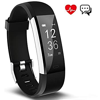 Fitness Tracker Aneken Smart Bracelet With Heart Rate Monitor Activity Tracker Bluetooth Pedometer With Sleep Monitor Smartwatch For Ios Android Iphone Samsung Smartphones 1