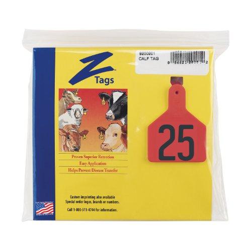 Etiquetas Z 1 pieza Pre-numerados Hot etiquetas sello para pantorrillas, números de 51 A 75, rojo