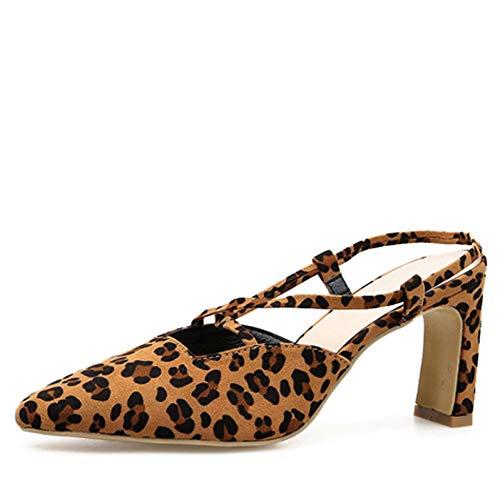 DEBJKJSK Leopard-Korn Damenschuhe Schuhe mit mittleren Absätzen Schuhe mit niedrigen Absätzen mit niedriger Schnalle Casual Sandalen Damenschuhe Dropshipping -