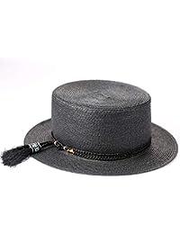 Havanadd Sombrero de Jazz Sombrero de Paja Sombrero de Playa Moda de  Vacaciones Sombrero de Sombra b7f22d68f61