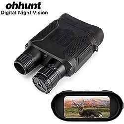 Ohhunt Jumelles de Chasse à Vision Nocturne numérique 7 x 31 Portée 400 m Écran TFT 5,1 cm Éclairage Infrarouge intégré Caméra enregistreur vidéo