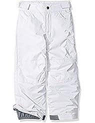 Columbia Star Chaser Peak de niña pantalón de esquí, color blanco, 2X -Small