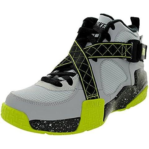 Nike Air Raid (gs) Zapatos de baloncesto de los muchachos 644412-600 Rojo universitario 4,5 M con no