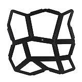 Kicode Irregulär 43.5X43.5Cm DIY Schwarz Auffahrt Pflasterung Pflaster Stein Mold Beton Stepping