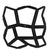 Kicode Irrégulier 43.5X43.5Cm Diy Noir Allée Pavage Chaussée Pierre Moule Stepping béton
