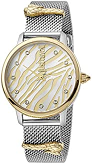 Just Cavalli Animalier Silver Dial Stainless Steel Analog Watch For Women, JC1L126M0085