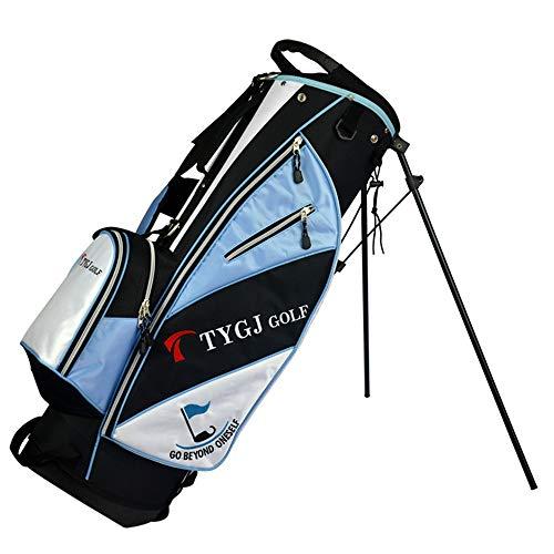 Golf Stand Bag Frauen Golftasche Tragetasche wasserdichte Langlebige Männer Golf Große Kapazität Golf Cart Taschen Leichte Golf Reise Fall (Farbe : Blau, Größe : 86 * 27 * 35cm) -