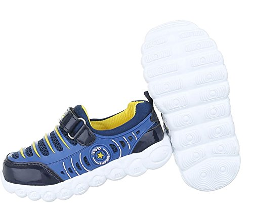 Kinder Freizeitschuhe schuhe Jungen Sportschuhe Sneaker Laufschuhe Turnschuhe Blau Schwarz Braun 26 27 28 29 30 31 32 33 34 35 36 Blau