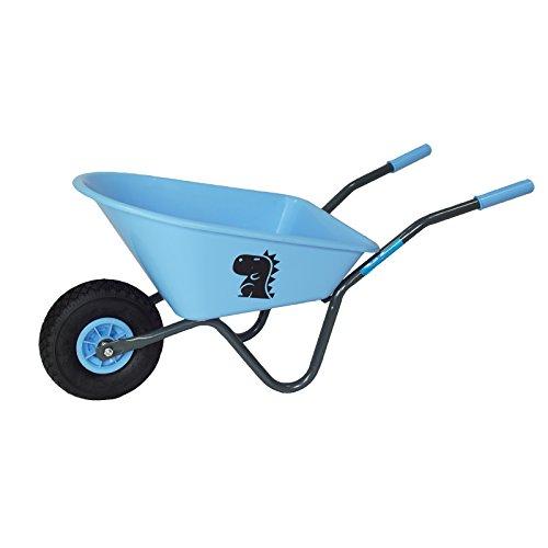 Baumarktplus Kinderschubkarre mit Motiv Schiebkarre Metallschubkarre Gartenkarre (Blau)