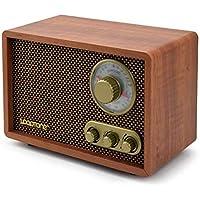 Bluetooth Radio FM/Am de Banda Dual de Madera Antiguo Semiconductor Radio Retro