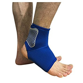 TOOGOO R  Sports Protective Ankle Running Protective Gear Basketball Soccer Badminton Ankle Protection Sprained Men and Women  blue L