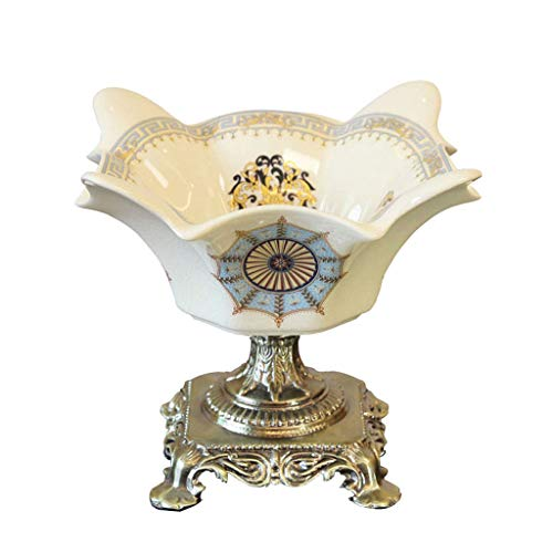 Chunxia decorazione in ceramica placcata argento cromato lucido decorazione in ceramica con supporto per frutta in porcellana