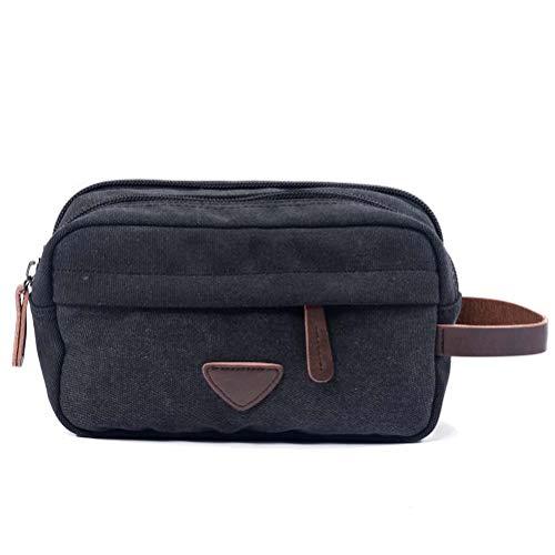 Niceamz Herren Clutch Bag Toilettenartikel/Reise/Urlaub/Übernachtung/Wochenende Wash Bag Travel Wash Lagerung Kosmetiktasche (Color : Black)