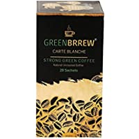 Greenbrrew Healthy Natural Strong unroasted Green Coffee - CARTE BLANCHE - Catalyst for weight loss, boosts metabolism, Helps in maintaining blood sugar level each pack 60g (20 Sachets PP) - Pack of 1