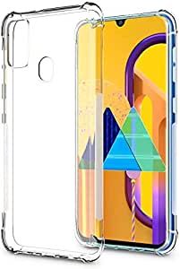 Valueactive Back Cover for Samsung Galaxy M21 / M30S Case Cover [Protective + Anti Shockproof CASE] Back Cover Case -Samsung Galaxy M21 / M30S Transparent Case