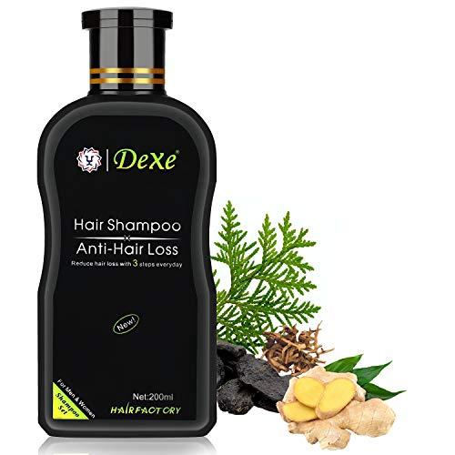 Haarshampoo gegen Haarausfall, Anti-Haarausfall Shampoo 200ml ohne Silikone, Salze und Parabene, Haaröl entfetten Haarfollikel reparieren und Haarausfall stoppen Ginseng Ingwerextrakt für Damen Herren