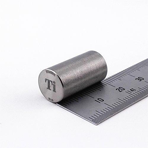 Titan Metall Rod 99,95% 7Gramm 10diameterx20mm Länge Element Ti SPECIMEN