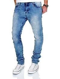 Jogg Jeans Herren Hose Denim Cargo Harem Slim Fit Chino Jogger Sweathose Blau Grau
