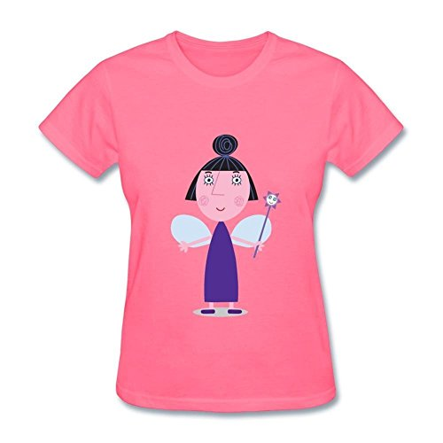 Damen's Ben and Hollys Little Kingdom Nanny Plum Short Sleeve T shirt Medium - Ben Short Sleeve T-shirt